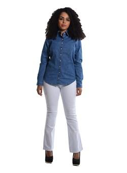 Calça Jeans Feminina Flare Branco