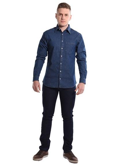 Calça Jeans Masculina com Elastano Azul