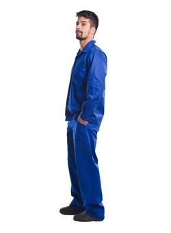 Calça Metade Elástico Azul Royal