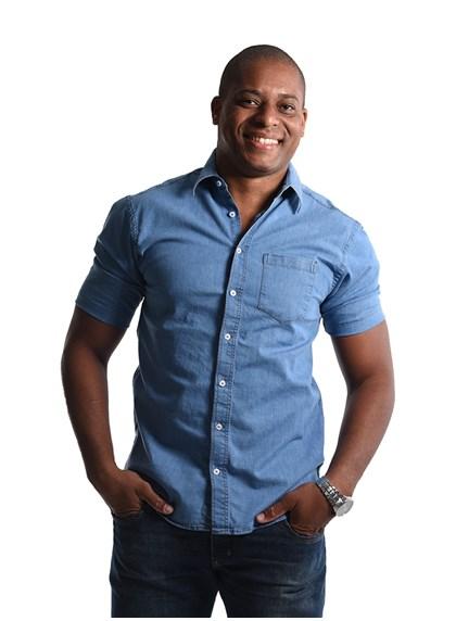 Camisa Jeans com Elastano Manga curta Azul Plácido