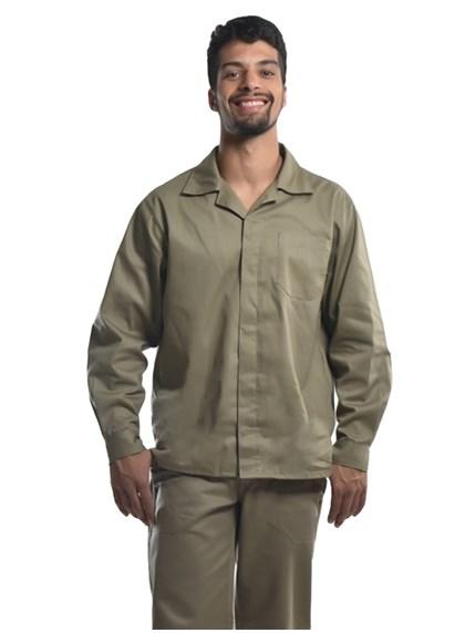 Camisa Profissional Mangas Longas C/Botões Caqui