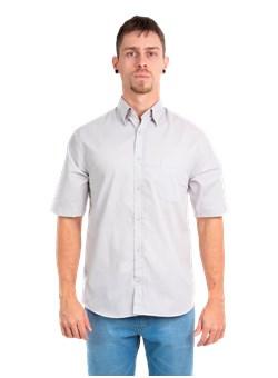 Camisa Social Unifill Manga Curta Cinza