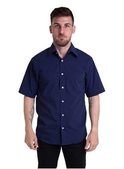 Camisa Tricoline Manga Curta Azul Noite