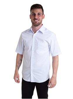 Camisa Tricoline Manga Curta Branco