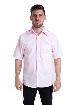 Camisa Tricoline Manga Curta Rosa Bebê