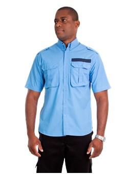 Camisa Vigilante Azul Plácido