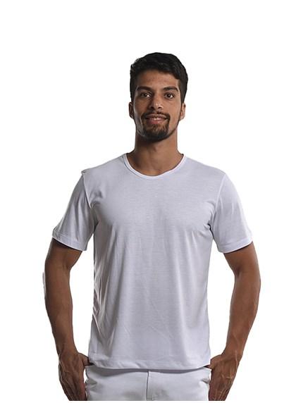 Camiseta Gola Redonda Cinza