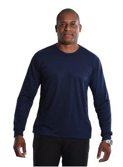 Camiseta Malha Fria Manga longa Azul