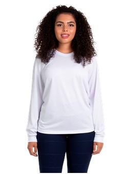 Camiseta Malha Fria Manga longa Branco
