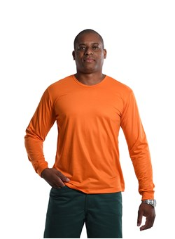 Camiseta Malha Fria Manga longa Laranja