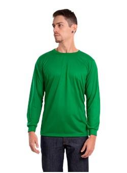 Camiseta Malha Fria Manga longa Verde Bandeira