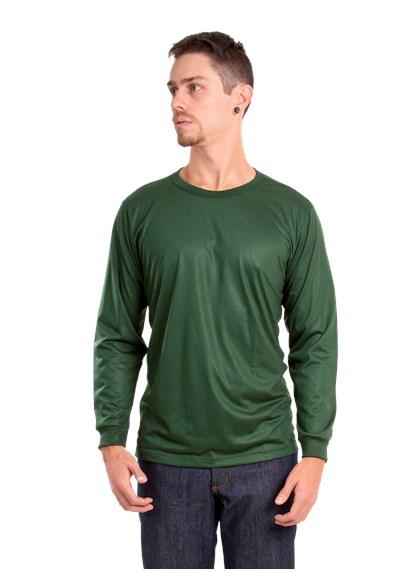 Camiseta Malha Fria Manga longa Verde Musgo