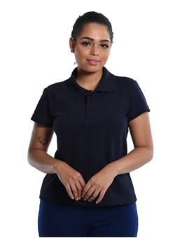 Camiseta Polo Baby-Look Azul Noite