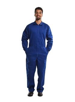 Macacão Profissional com Ziper Azul Royal